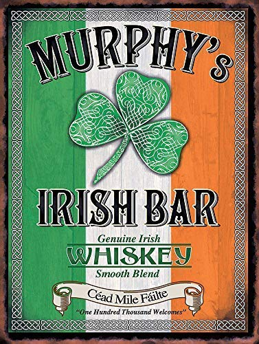 Nat999Lily Murphy's Irish Bar Retro Metal Aluminium Sign Vintage Man Cave Bar Pub Vintage Metal Signs 12x16