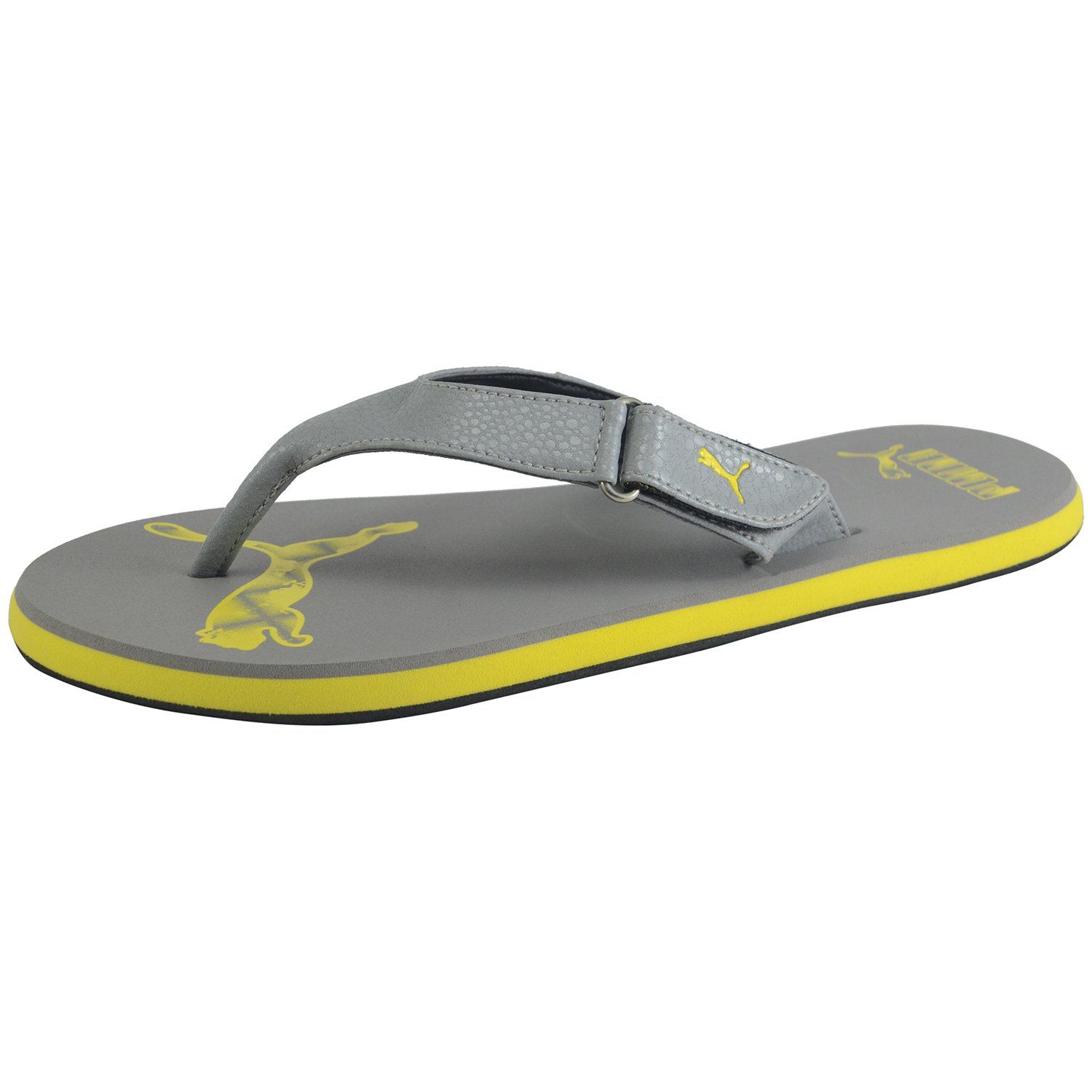 cd3c7f68351 Puma Men s Breeze 4 Ind Grey Flip Flops and House Slippers - 6 UK ...