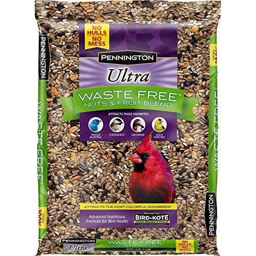 Pennington Bird Feed and Seed Nuts & Fruit Blend Waste Free, 2.5 OZ (1) (Nut Free Bird Food)