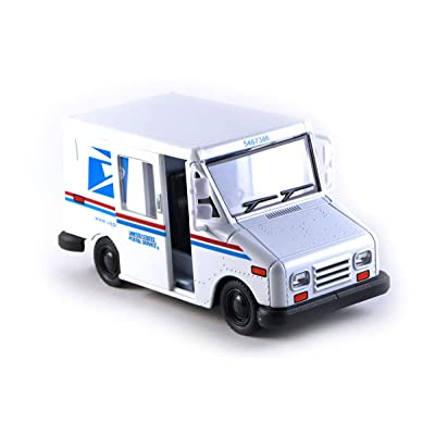 HCK Postal Service U.S. Mail Delivery Truck Diecast Model Toy Car in White: Toys & Games