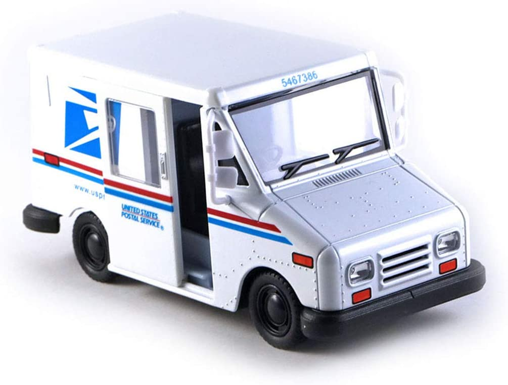 HCK Postal Service U.S. Mail Delivery Truck Diecast Model Toy Car in White