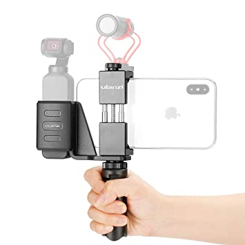 "Skyreat Osmo Pocket Mount Accessories Handheld Phone Holder Bracket Tripod Mount,w Cold Shoe 1//4/""Thread for DJI Osmo Pocket"