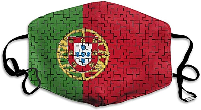 Portugal Flag Puzzle Mouth Mask Dust Face Mask Washed Reusable ...