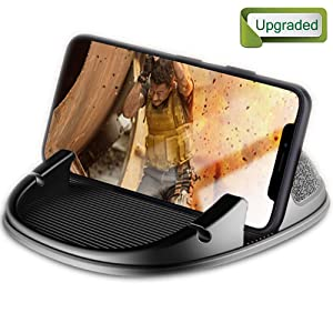Car Phone Holder, Winique Car Phone Mount No Glue Silicone Dashboard Car Pad Compatible with iPhone X/8 Plus/7 Plus/6S, Samsung Galaxy S8 Plus/Note 8/S7 3.5-7 Inches Smartphone or GPS Device