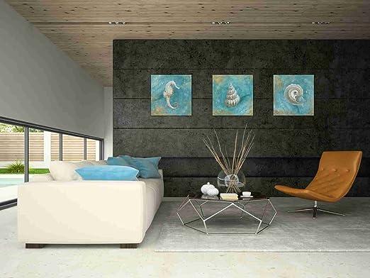 "Epic Graffiti /""Treasures From The Sea III/"" by Danhui Nai Giclee Canvas Wall Art"
