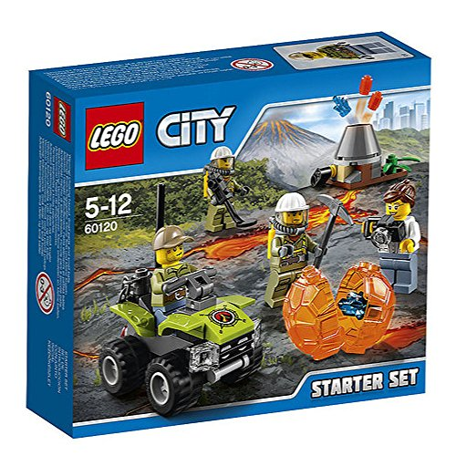 LEGO 60120 City In/Out Volcano Starter Construction Set