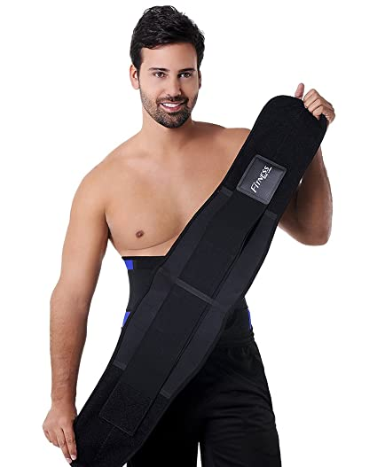 d3bc4c9227 Image Unavailable. Image not available for. Color  Ann Michell AM4026 Latex  NEW Fitness For Men Waist Trimmer Belt