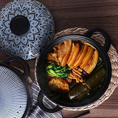 ZJZ Pot en céramique Pot en céramique Pot de Cuisson Casserole Ragoût Pot ménage en céramique Pot à Soupe Petite Casserole Pot à Soupe 1.5L