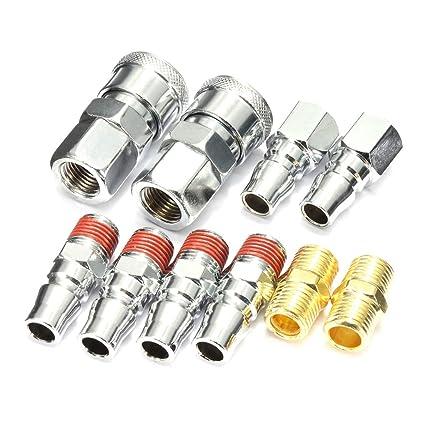 Línea de aire 10PCS de mangueras de metal Conectores de compresores de acero acoplador del lanzamiento