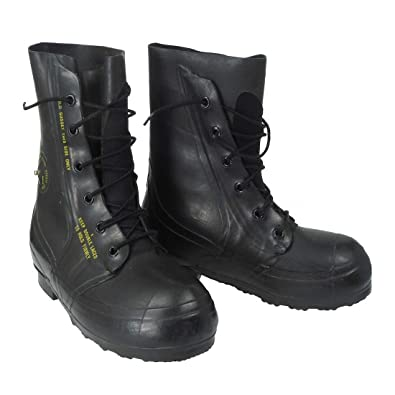 6257d1eb1c6 Combat Boot,Mickey Mouse Extreme Cold Weather Boots, Waterproof Rubber,  Genuine US Military Issue, NSN 8430-00-823-7036, 7 Regular Black