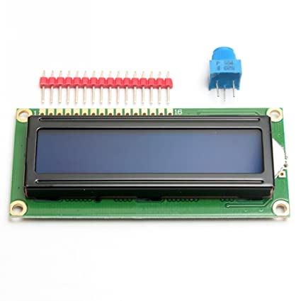 ELEDIY Standard LCD 16x2 Character LCD Display Module + Extras for Arduino  (Blue Background)
