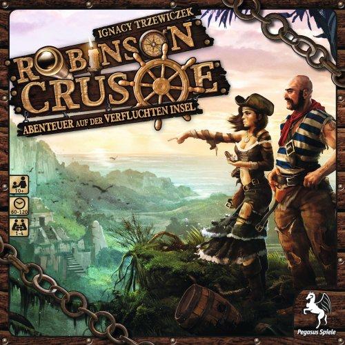 Pegasus Spiele 51945G - Robinson Crusoe - Abenteuer auf der Verfluchten Insel, Strategiespiel