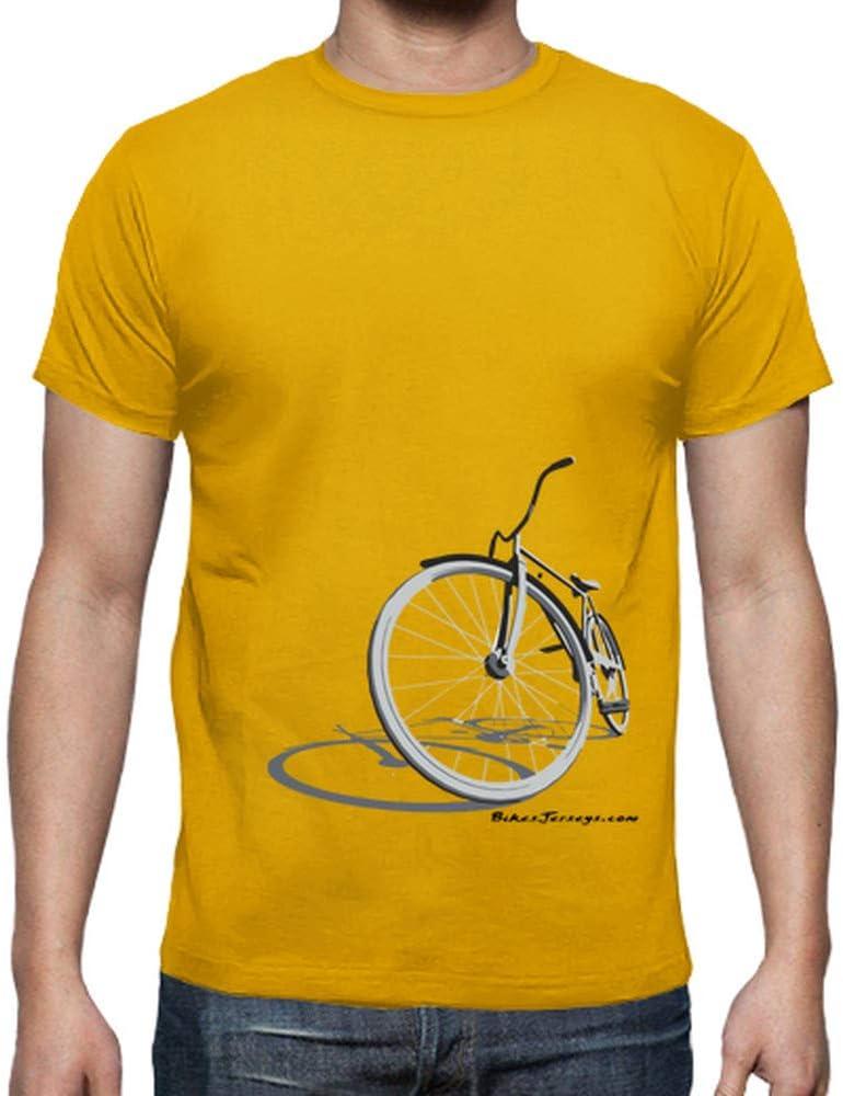 latostadora - Camiseta Retro Siluet para Hombre Amarillo Mostaza S ...