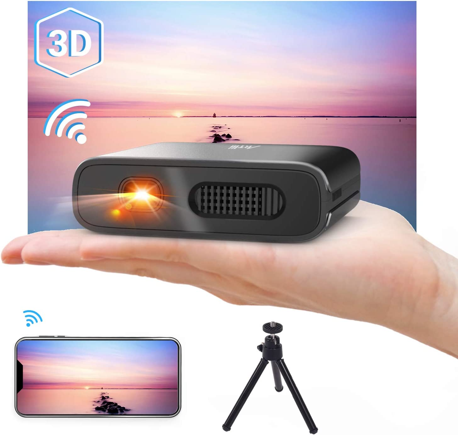 Artlii Mana DLP Video projector with rechargeable battery