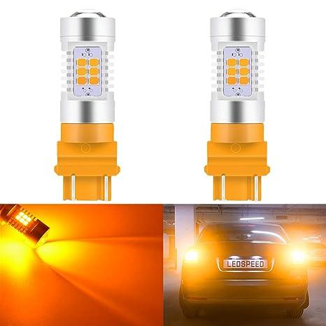 KaTur 3155 3157 3157A 3457A Bombillas LED ámbar 2835 21SMD 80W Alta Potencia Lente LED 12V