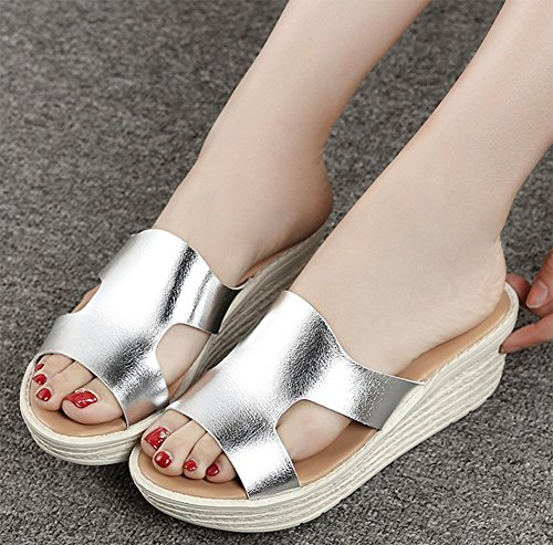 Thick B Bottom Bottom weiwei Cool Slippers Summer Lined Ladies Soft Slippers Flat Ux1UcqpOPY
