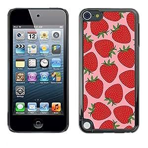 TopCaseStore / la caja del caucho duro de la cubierta de protección de la piel - Sun Pink Berries - Apple iPod Touch 5