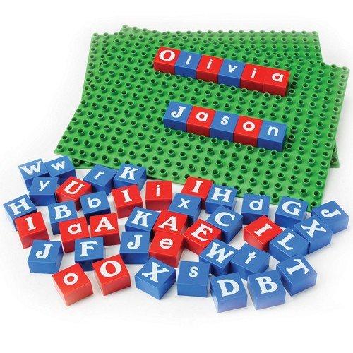 Alphabet Bricks & Base Plates - Educational Building 210 pc. Set ()