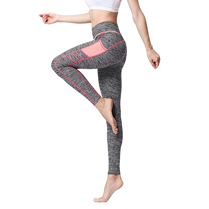 Women Yoga Fitness Leggings Exercise Gym Stretch Sports High Waist Pants Trouser