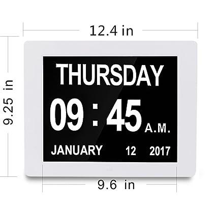 Reloj Calendario Actualización | Honglanao 12
