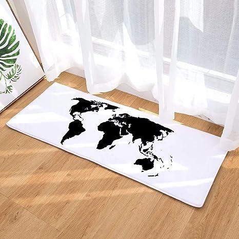 Morbuy Felpudos Alfombra Mapa del Mundo Fácil de Limpiar ...