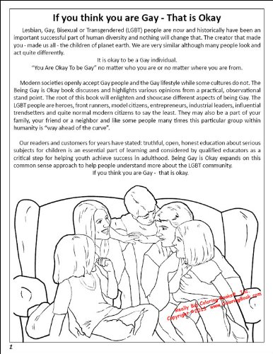 Being Gay Is Okay Coloring Book Novel: Inc., Really Big Coloring ...