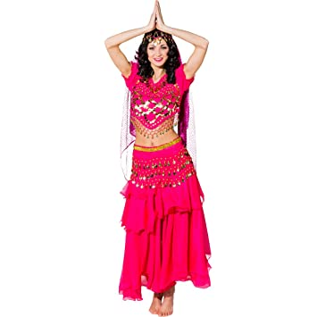 Amakando Traje Bollywood - Fucsia | Disfraz de Mil y Una ...