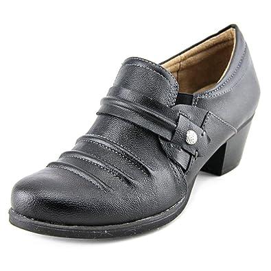 Naturalizer Womens Kaz Leather Closed Toe Clogs Black95 Size 7.5