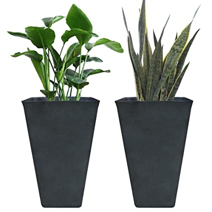 Exceptionnel Tall Planters 26u0026quot;, Flower Pot Pack 2, Patio Deck Indoor Outdoor Garden  Tree