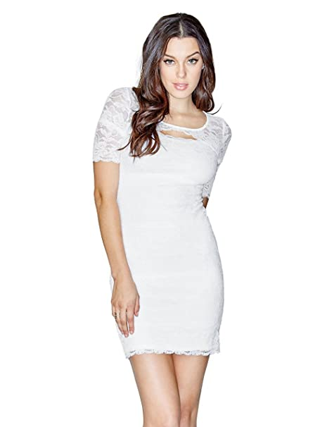 GUESS Women s Petra Half-Sleeve Lace Dress (Medium 18a1431ac