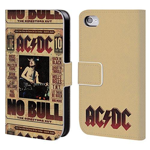 Officiel AC/DC ACDC Aucun Taureau Art D'album Étui Coque De Livre En Cuir Pour Apple iPhone 4 / 4S