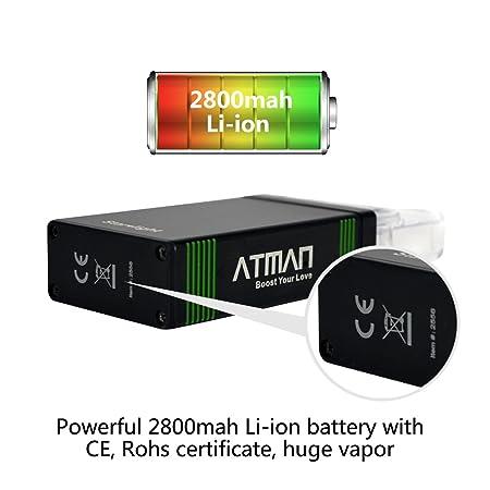 Atman Starlight Vaporizador Herb Vaporizer portable, equipado con 2800Mah batería y 4 niveles de control de temperatura,no Nicotina: Amazon.es: Salud y ...