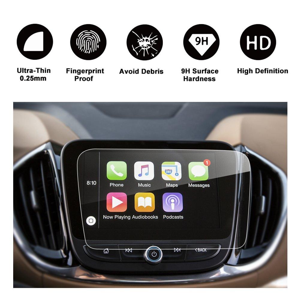 2018 Chevrolet Equinox Car In-Dash Navigation Screen Protector, RUIYA HD Clear TEMPERED GLASS Car Navigation Screen Protective Film (8-Inch)