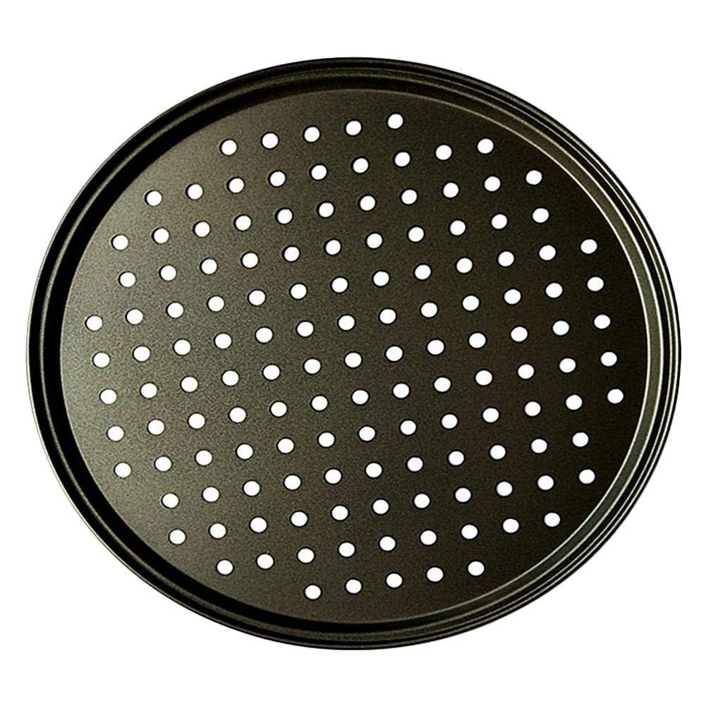 2 st/ücke backutensilien 12-zoll pizza backblech pizzaplatte antihaft pizzaplatte backblech