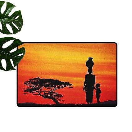 Amazon.com: ParadiseDecor African Woman,Universal Door Mat ...