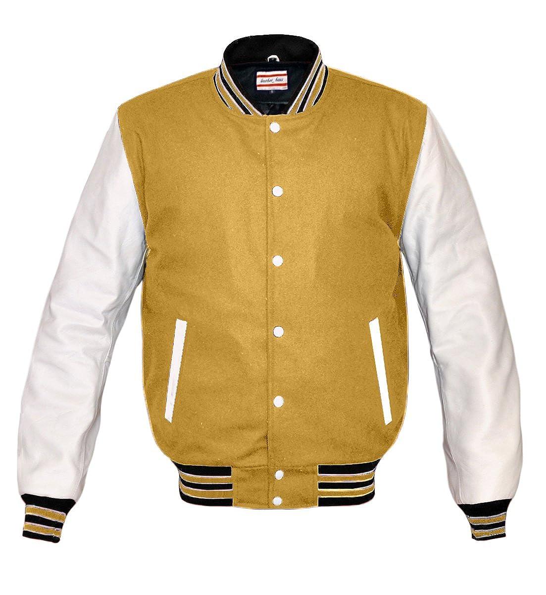 Superb Genuine Leather Sleeve Letterman College Varsity Men Wool Jackets WSL-BWSTR-WB-$P