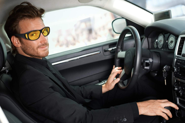 Gorkuor HD Night Driving Glasses Eyewear for Men Women