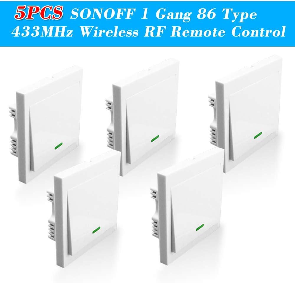 5PCS OWSOO Interruptor de Pared 86 Tipo 1 Gang