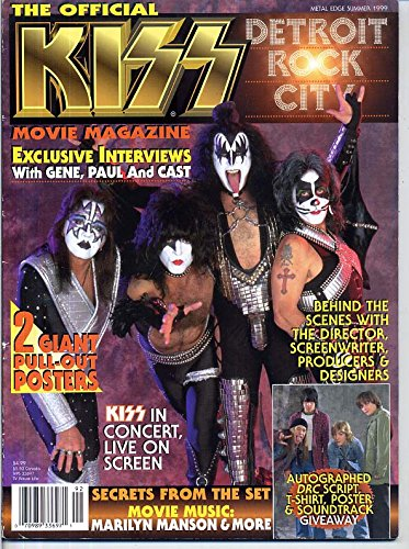 Metal Edge Magazine KISS Detroit Rock City EDWARD FURLONG Paul Stanley GENE SIMMONS Summer 1999 C