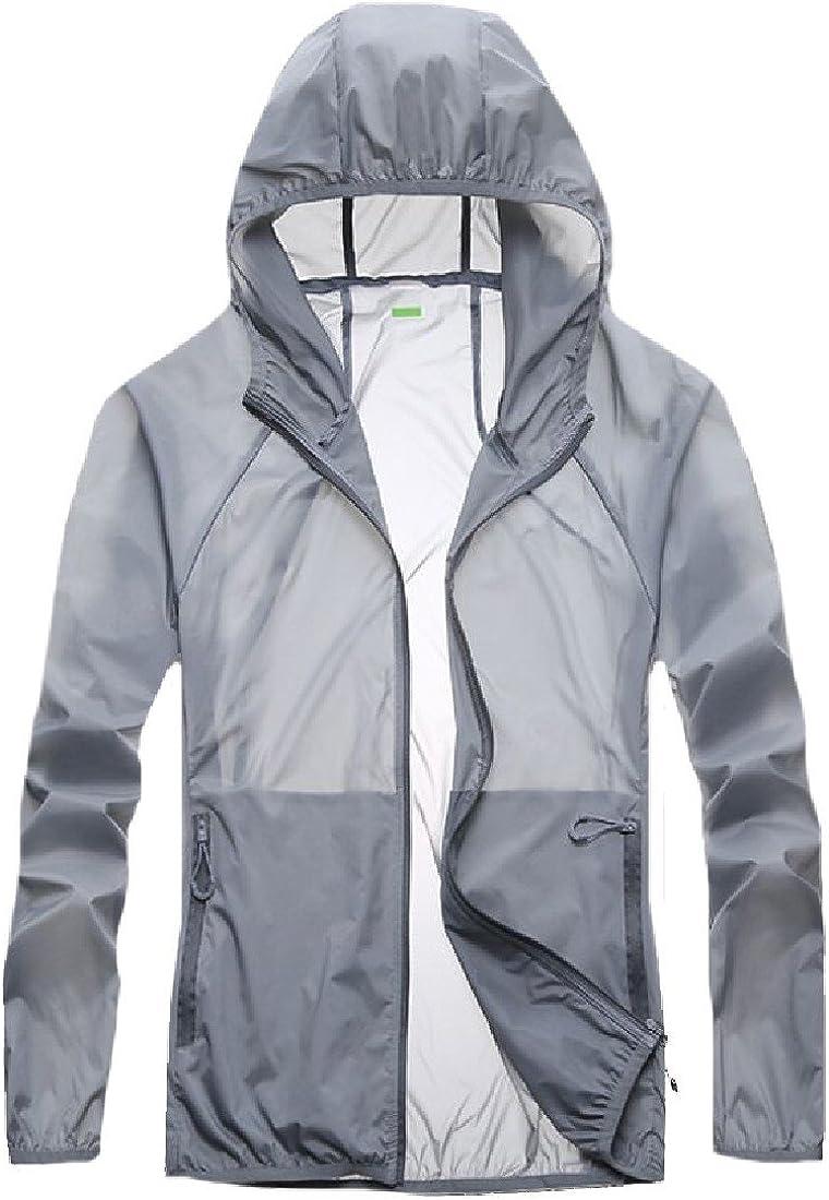 Godeyes Mens Sunscreen Outdoor Breathable Summer Summer Long Sleeve Jacket Overcoat