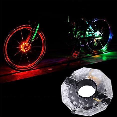 ShiningLove - Luces LED para rueda de bicicleta, recargables por ...