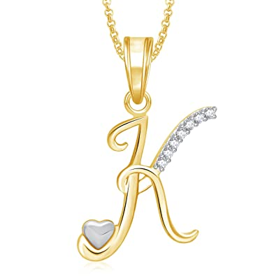 Meenaz k letter pendant locket gold plated alphabet heart for men meenaz k letter pendant locket gold plated alphabet heart for men and women with aloadofball Image collections