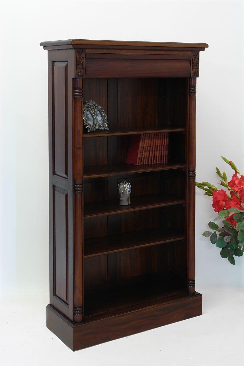 Bücherregal Massivholz mit Schublade Antik Stil