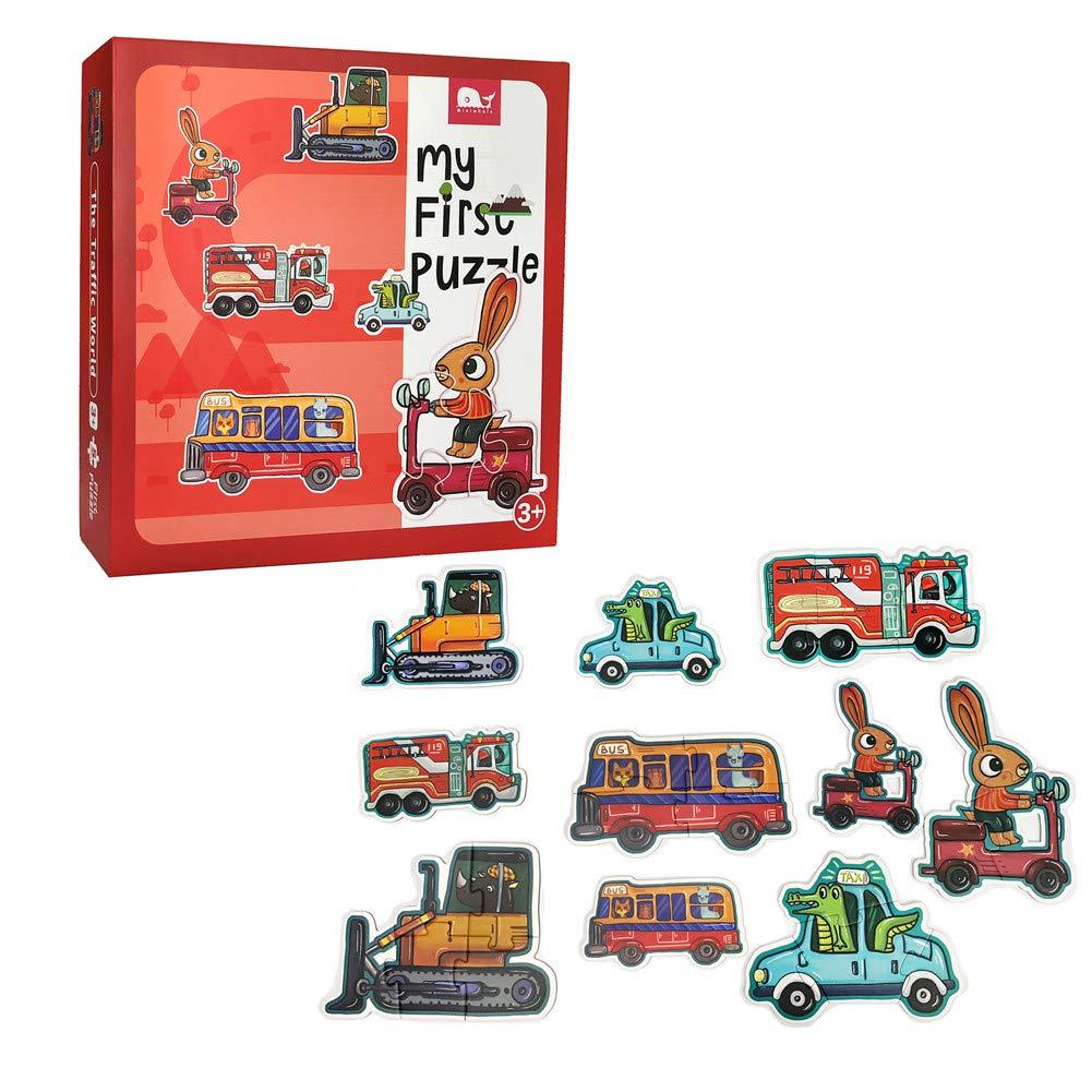 大型パズル 3歳以上のお子様向けジグソーパズル レッド  レッド B07MR6JF7D