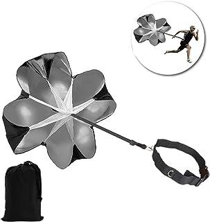 Vvhooy sous Parapluie, 142,2cm Vitesse formation résistance Parachute Parapluie Vitesse d'entraînement réglable glisser Chute Aide à Maximiser l'Accélération et top Vitesse de course à pied à tra