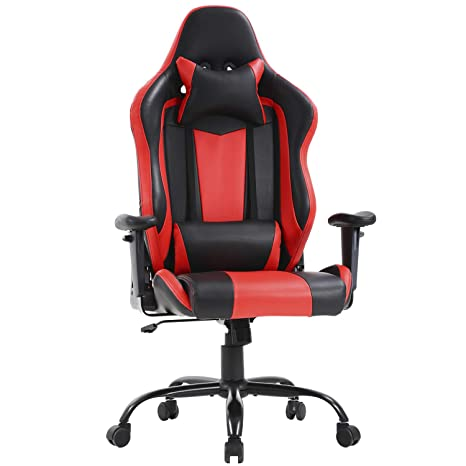 Awe Inspiring High Back Big And Tall Office Chair 400Lbs Ergonomic Gaming Chair Desk Chair Task Pu Rolling Swivel Adjustable Computer Chair With Lumbar Support Ocoug Best Dining Table And Chair Ideas Images Ocougorg