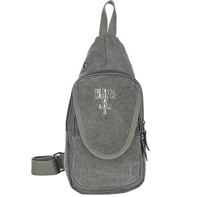44a9c14fb79 Put On Some Gangsta Rap And Handle It Fashion Men s Bosom Bag Cross Body  New Style