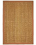 NaturalAreaRugs Natural Fiber Mendoza Mountain Grass Rug, Handcrafted, Cotton Border, Non-Slip Latex Backing, 8' x 10'