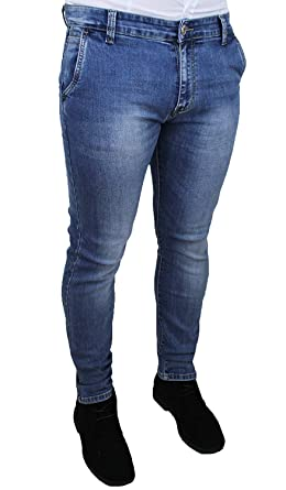 Evoga - Pantalones Vaqueros para Hombre, Color Azul Claro ...