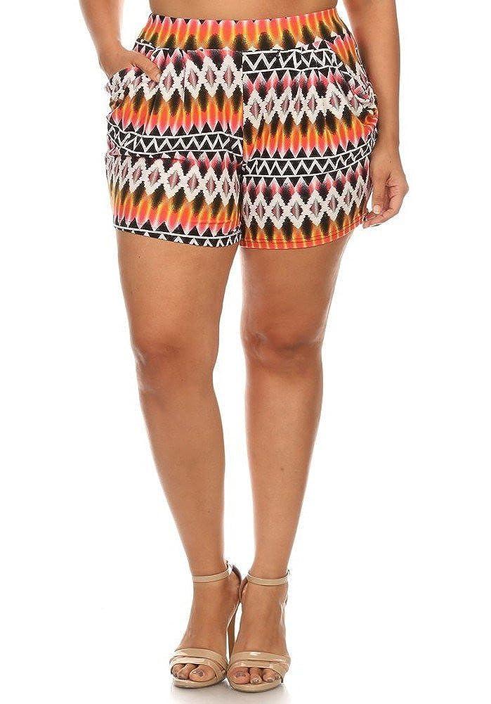 Elegant4U Fun and Trendy Collection Junior Plus size Harem Shorts MHSXL4U2723